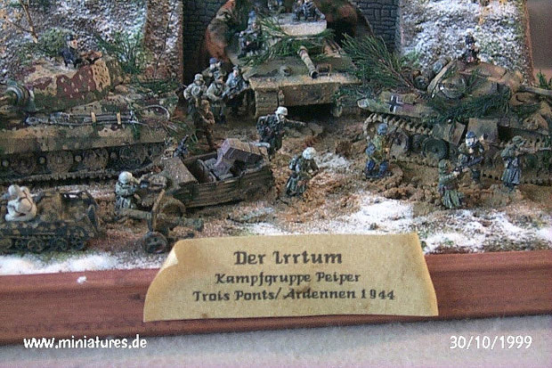 Ardennes 1944, 15mm Diorama featuring Old Glory Vehicles und Infantry