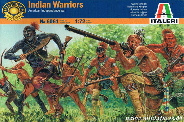 Woodland Indian Warriors, American Revolutionary War, 1:72 Miniatures Italeri 6061