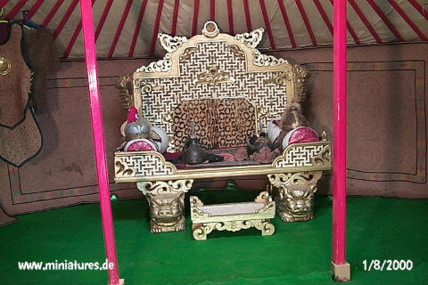 Throne inside the tent