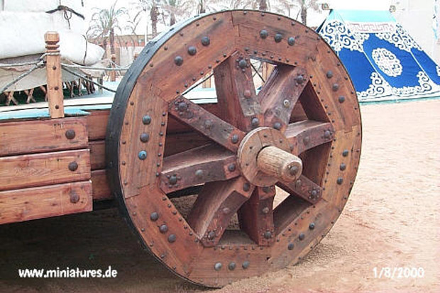 One wheel of the palacial wagon