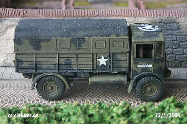 AEC Matador Artillery Tractor painted in the British Army Mickey Mouse Pattern