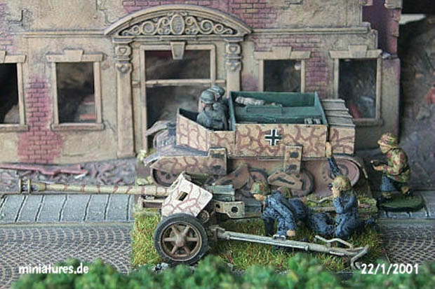 German 75 mm PaK 40 Anti-Tank Gun, 1:76 Airfix 02315
