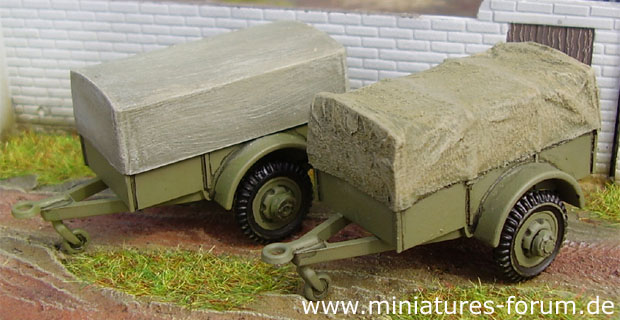 Trailer Cargo 1-ton, 1:76 Model Kit Airfix 02318