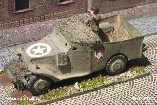 French M3 Scout Car, 1:72 Card Model