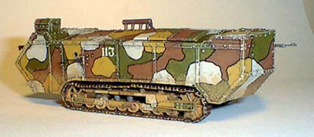 French Breakthrough Tank Saint Chamond M-16, 1:72 Fine Scale Factory Model Kit TL002