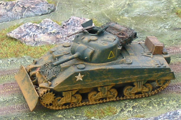 British Sherman Mk.V Medium Tank, 1:76 Model Kit Matchbox 40071