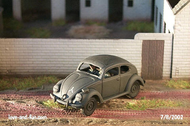 German VW Type 60 Sedan Staff Car, 1:72 Model Kit Military Wheels 7201