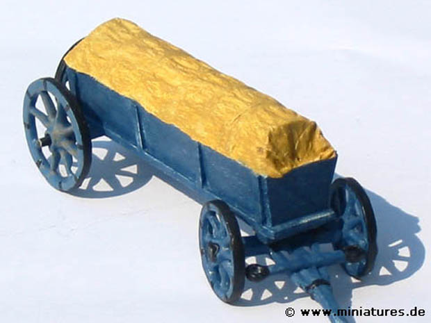 Scratchbuilt Prussian baggage wagon in 1:43 scale