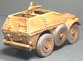 Rear license plate of the Autocarro Protetto AS37, 1:72 Reviresco AC-20