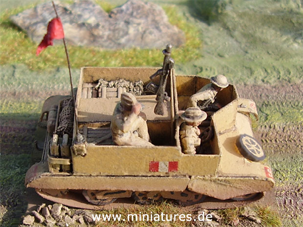 British 8th Army Bren Carrier, 1:72 Card Model