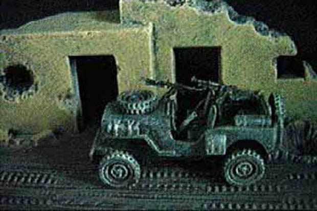 Israeli Scout Jeep, 1948, 1:76 Model Kit VAC-U-CAST VS-113