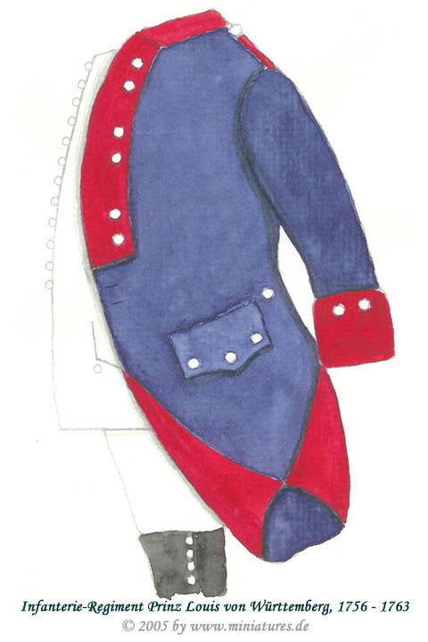 Wuerttemberg Infantry Regiment Prinz Louis von Württemberg of the Seven Years' War, 1756–1763
